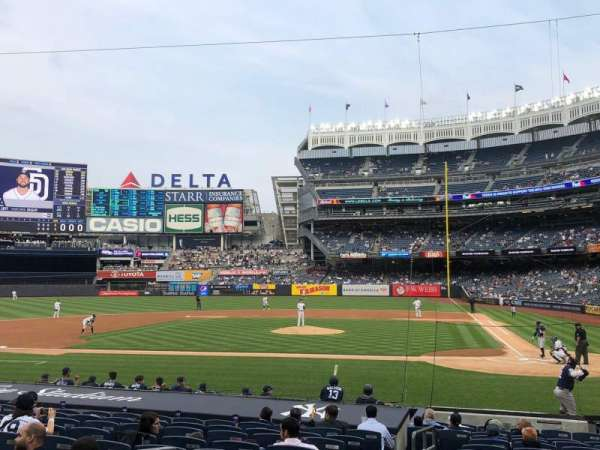 Yankee Stadium, secção: 122, fila: 4, lugar: 12