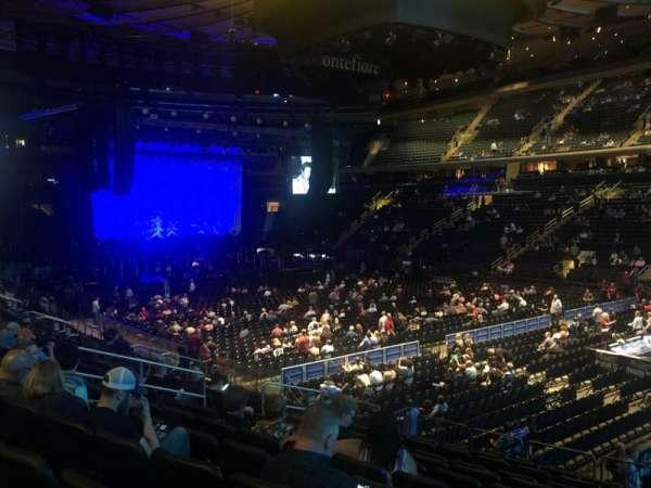 Madison Square Garden, secção: 119, fila: 14, lugar: 13