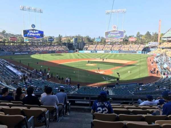 Dodger Stadium, secção: 105LG, fila: H, lugar: 1