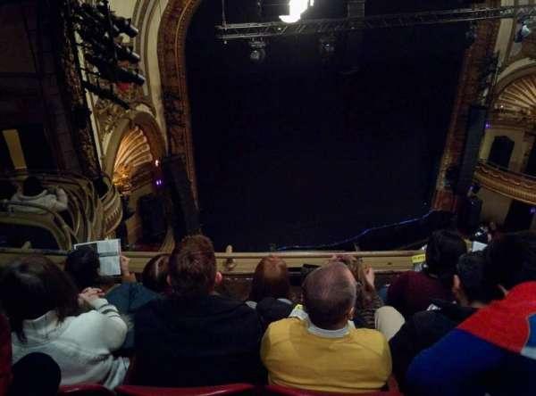 Palace Theatre (Broadway), secção: Balcony Left, fila: D, lugar: 19