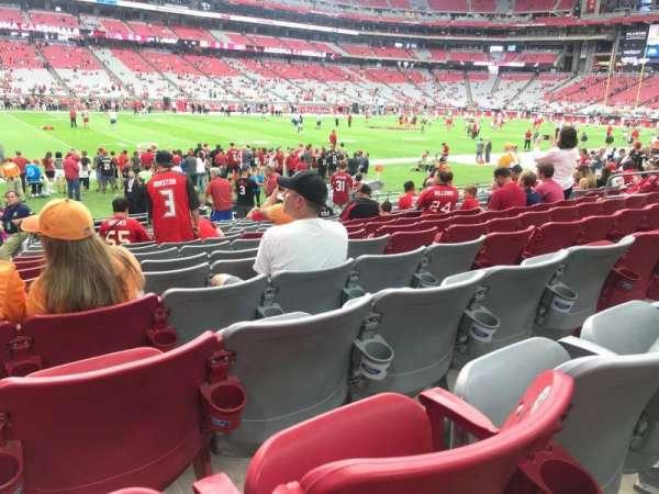 State Farm Stadium, secção: 134, fila: 13, lugar: 15