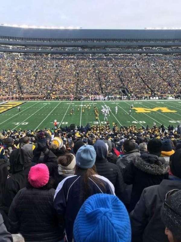 Michigan Stadium, secção: 25, fila: 43, lugar: 19