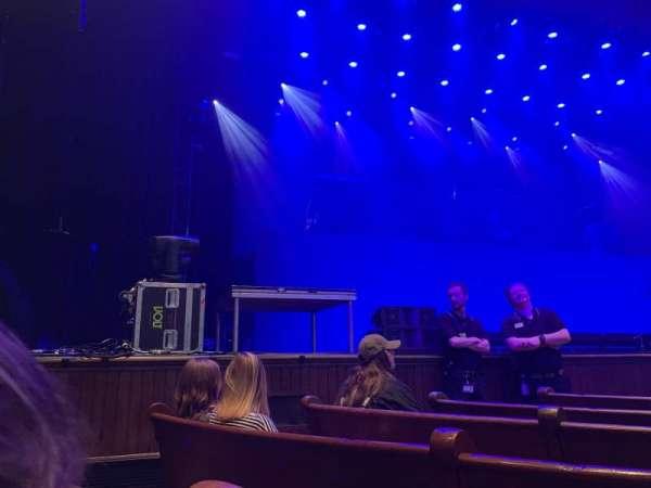Ryman Auditorium, secção: MF-7, fila: G, lugar: 6