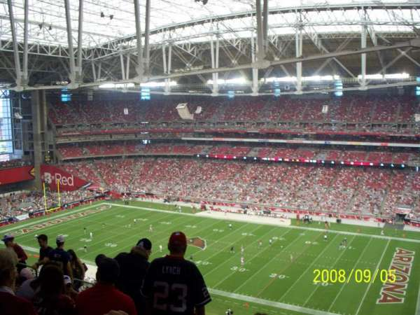 State Farm Stadium, secção: 438, fila: 11, lugar: 6