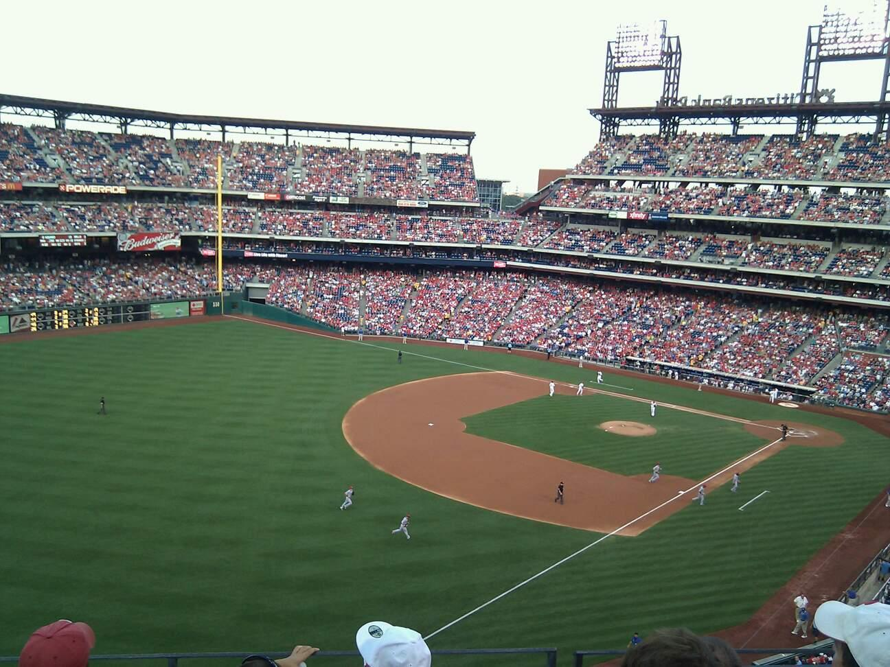 Citizens Bank Park Secção 332 Fila 4 Lugar 5