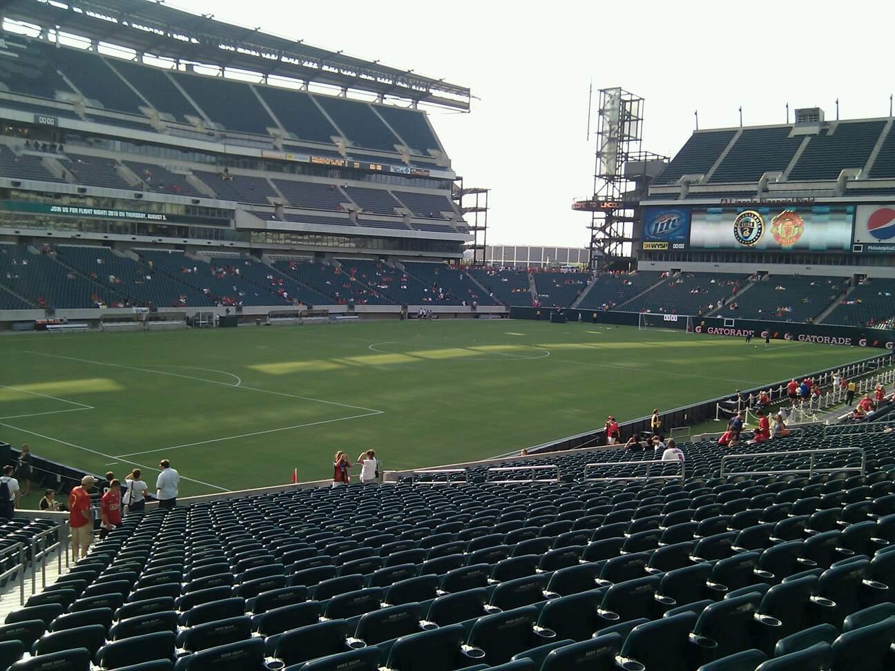 Lincoln Financial Field Secção 115 Fila 27 Lugar 25