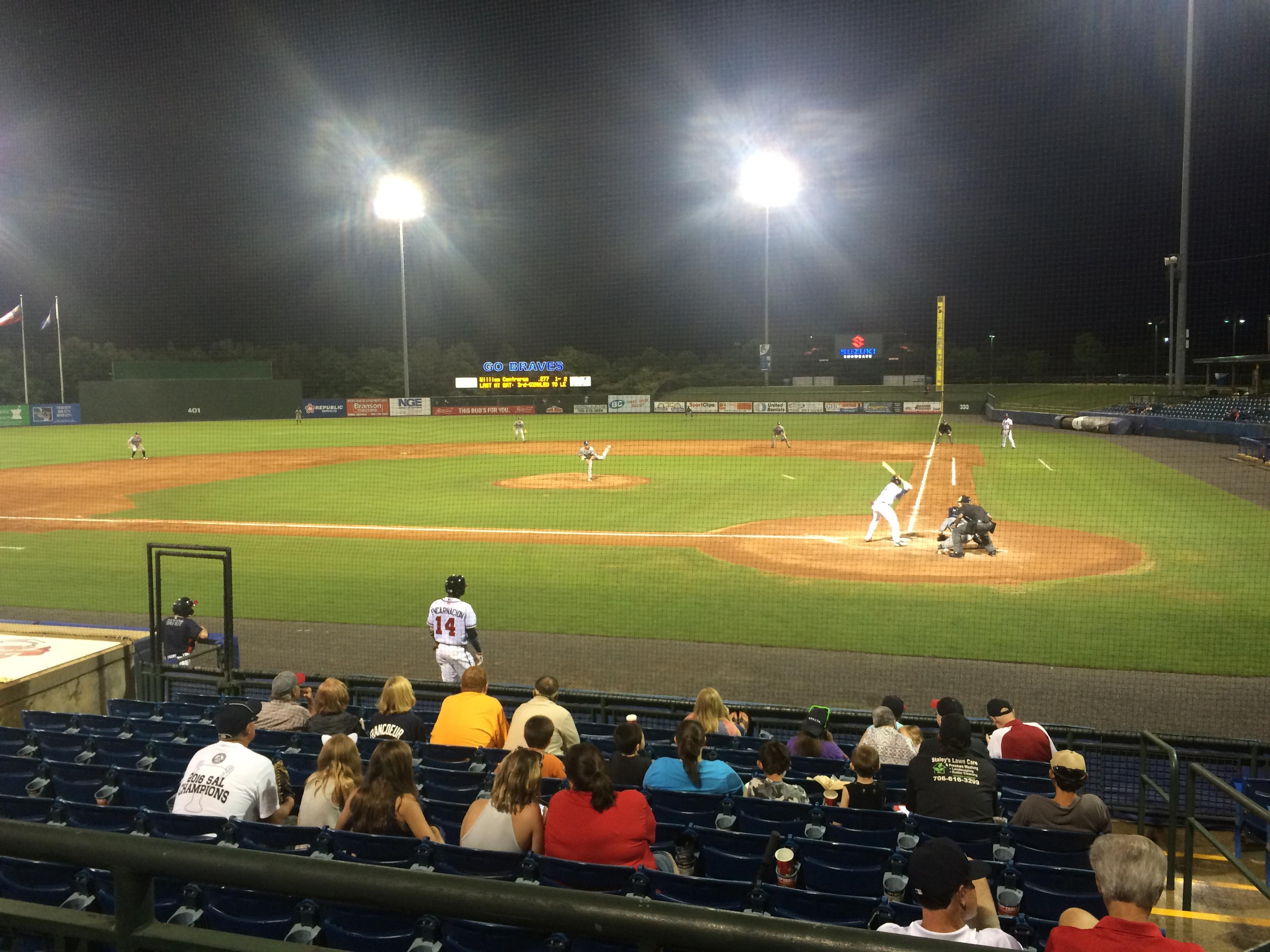 State Mutual Stadium Secção 206 Fila 2 Lugar 2