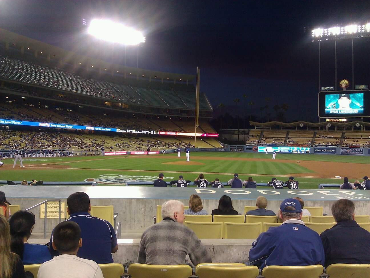 Dodger Stadium Secção 18FD Fila E Lugar 6