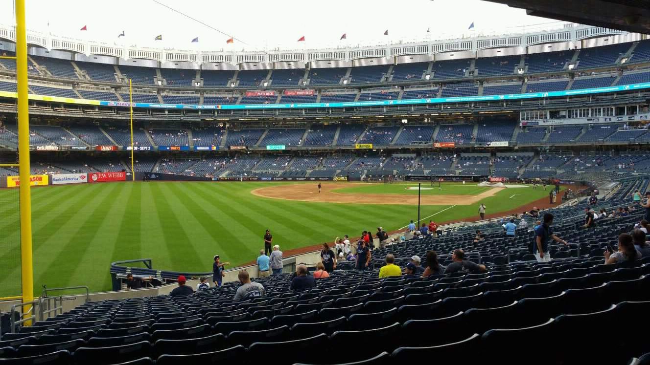 Yankee Stadium Secção 131 Fila 23 Lugar 21