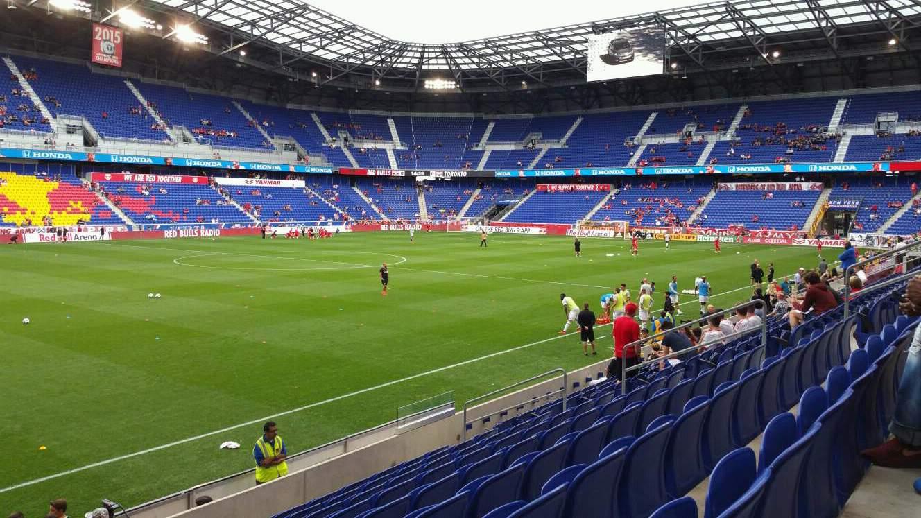 Red Bull Arena (New Jersey) Secção 112 Fila 9 Lugar 17
