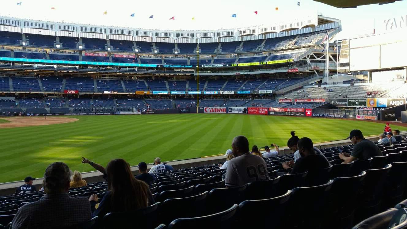 Yankee Stadium Secção 105 Fila 12 Lugar 24