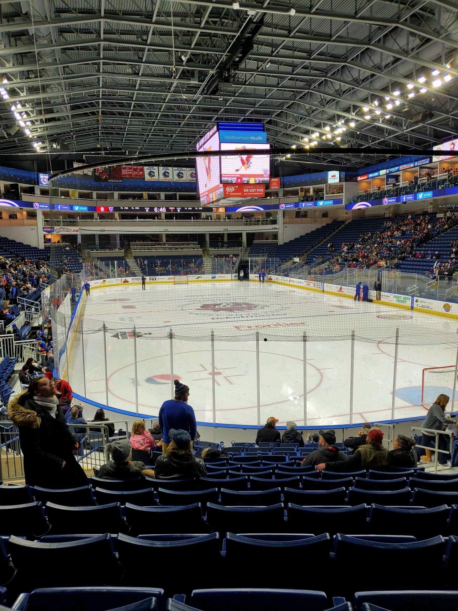 Webster Bank Arena Secção 119 Fila K Lugar 10