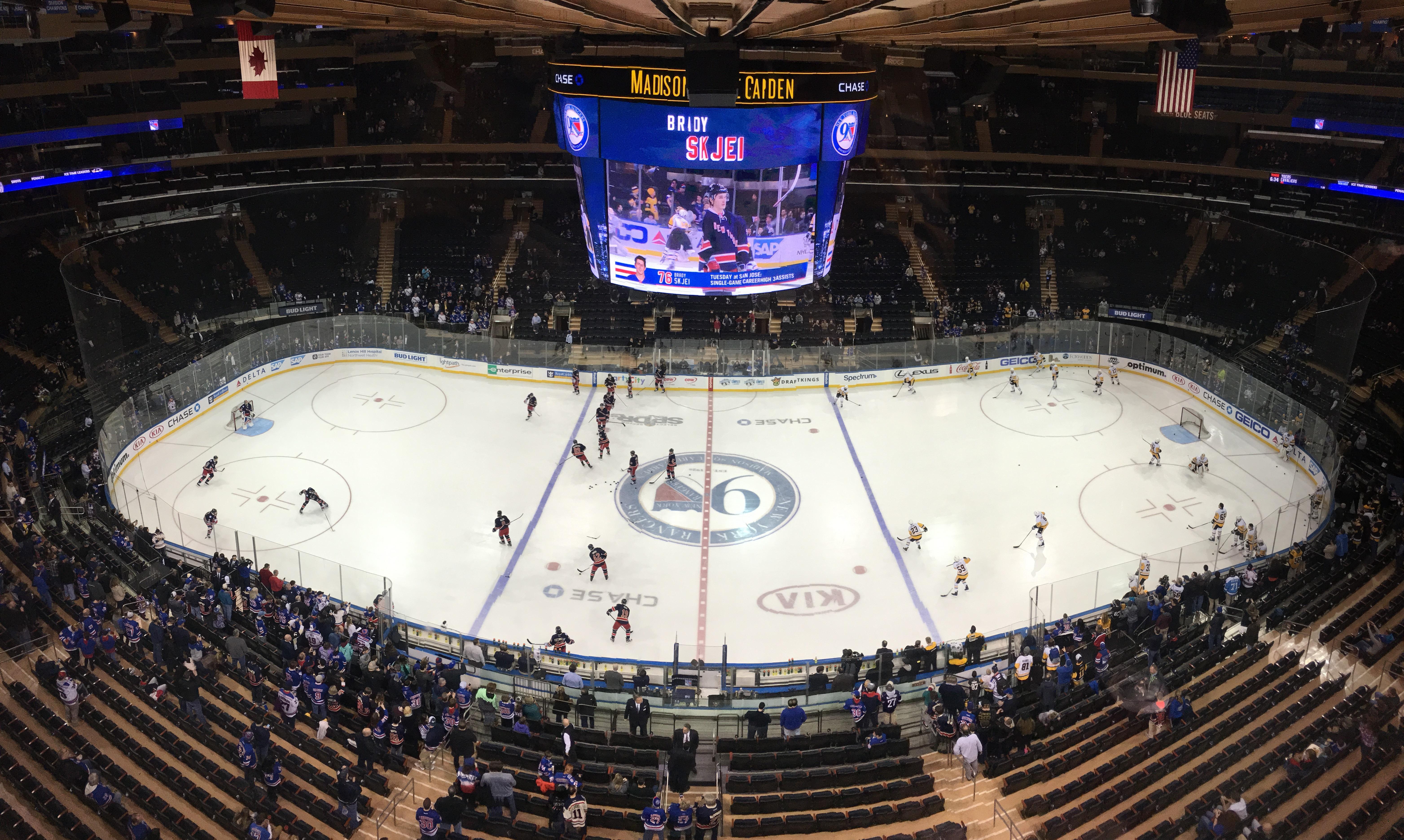 Madison Square Garden Secção 313 Fila 1 Lugar 12