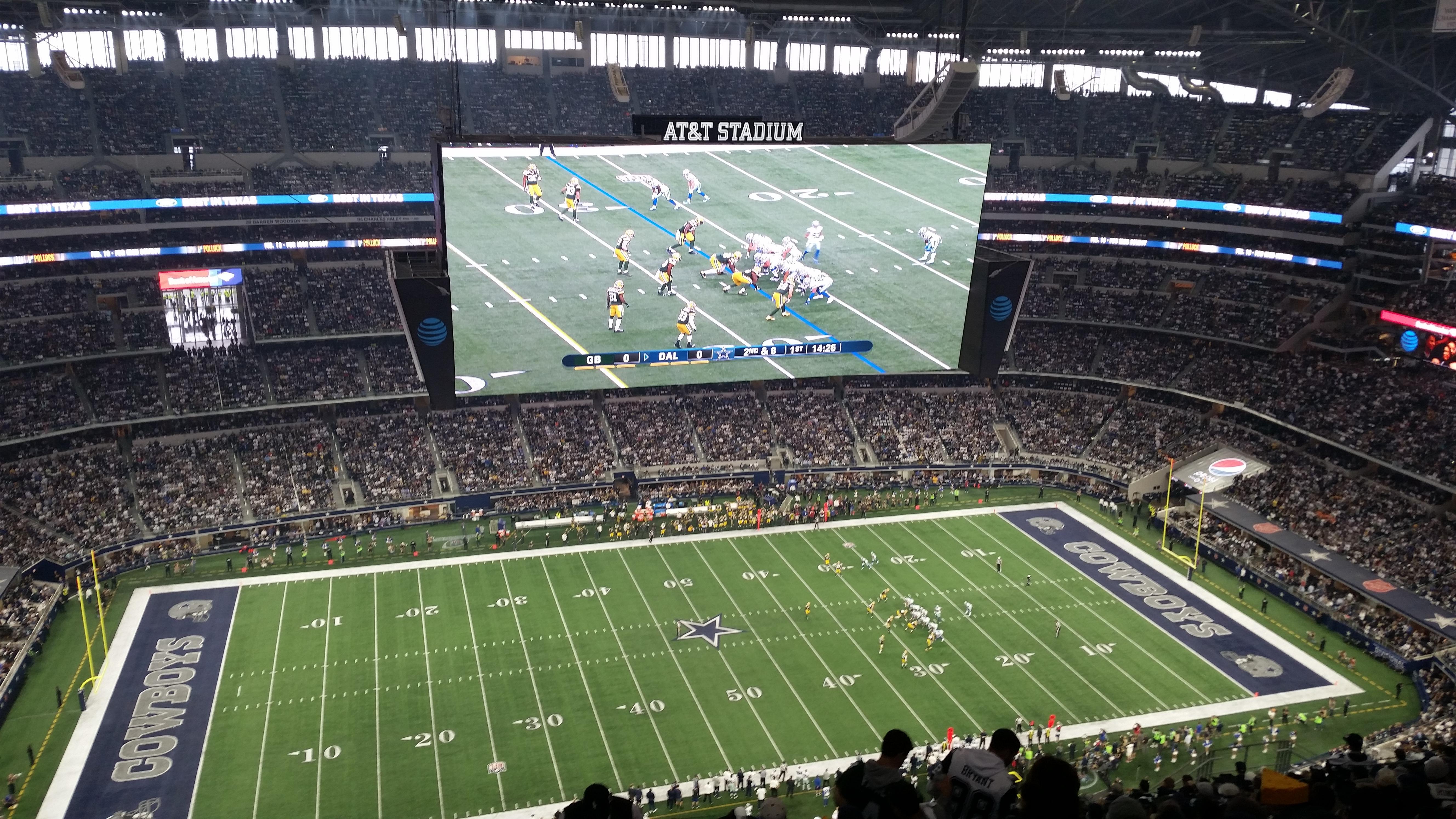 AT&T Stadium Secção 415 Fila 29 Lugar 2