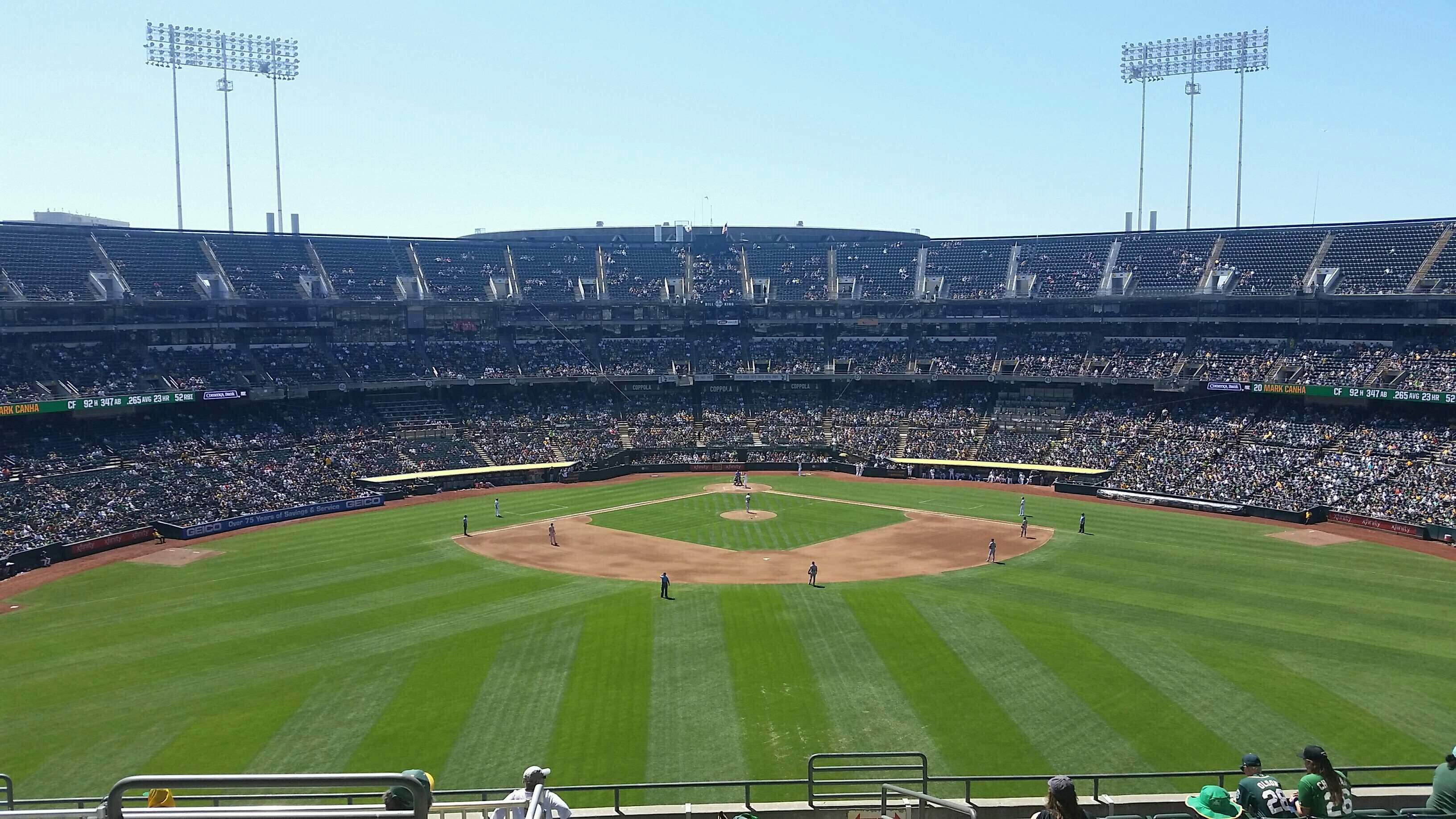 Oakland Coliseum Secção 243 Fila 13 Lugar 3