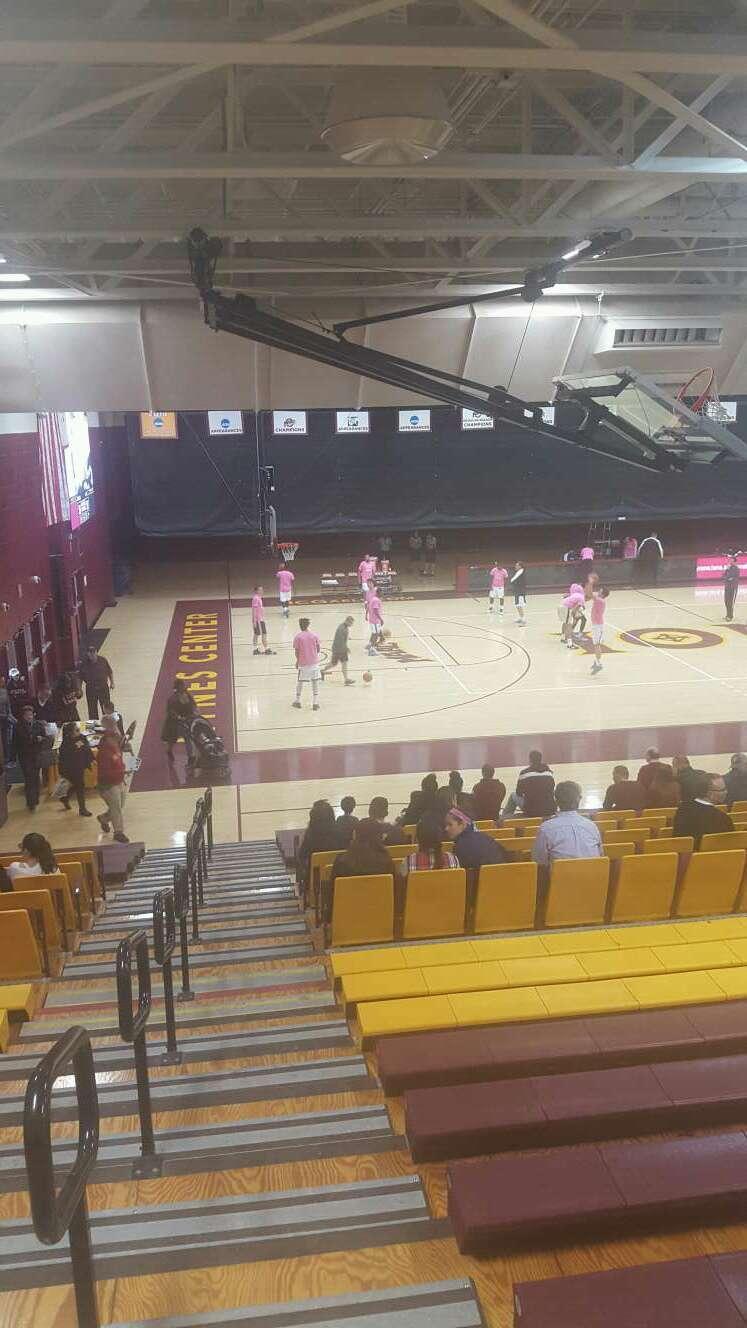 Hynes Athletic Center Secção 15 Fila V Lugar 15