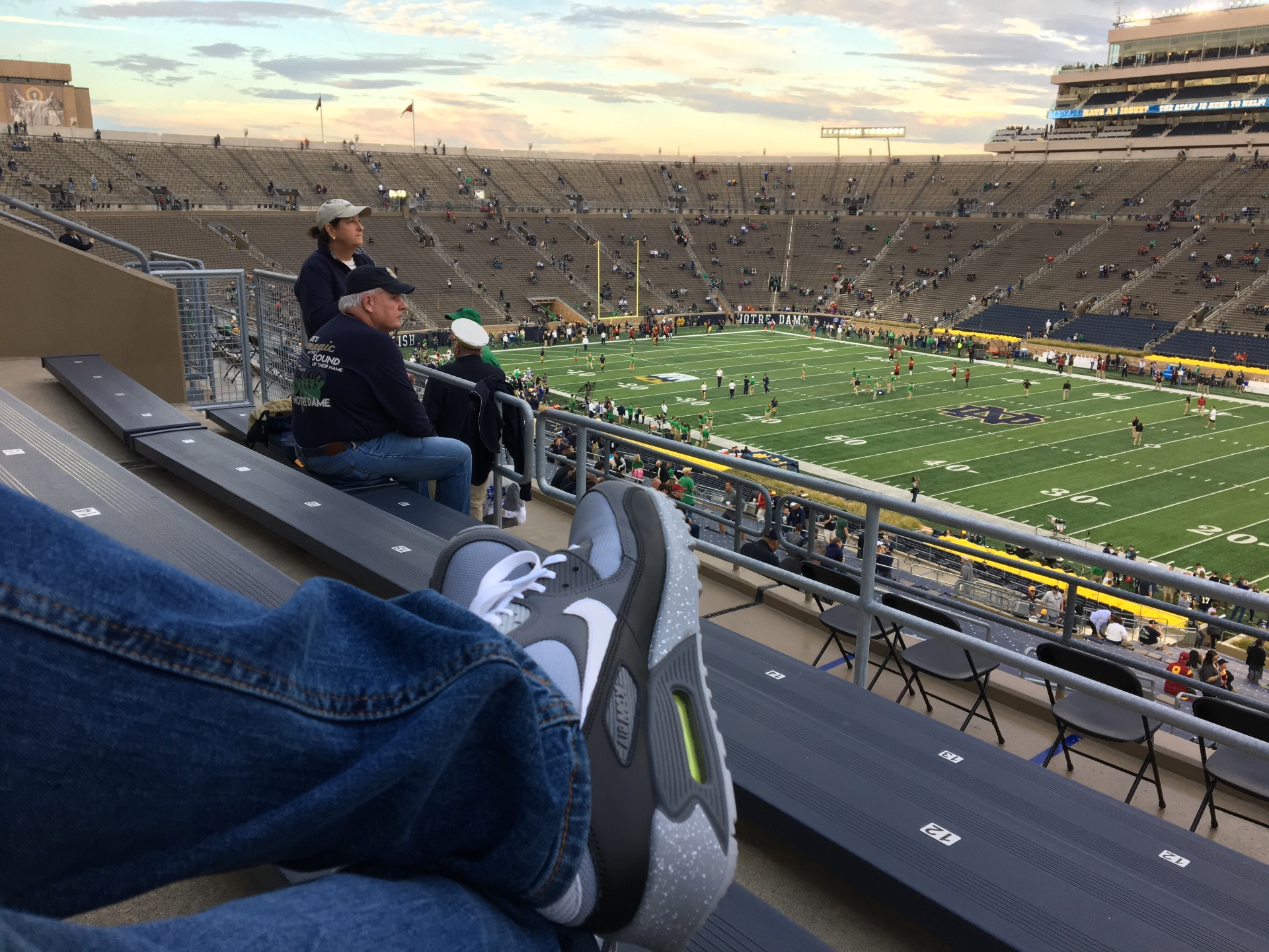 Notre Dame Stadium Secção 125 Fila 7 Lugar 12