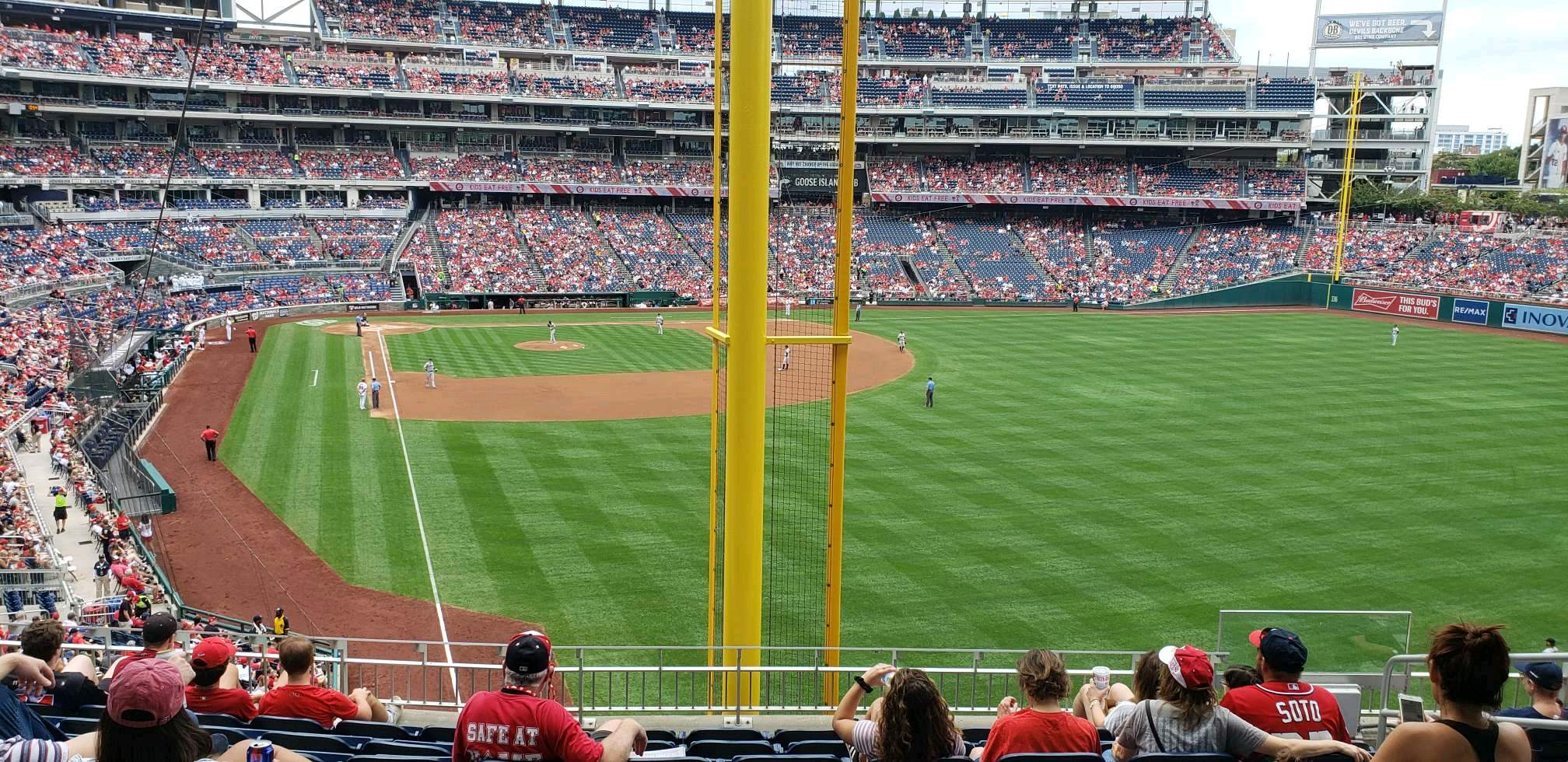 Nationals Park Secção 235 Fila j Lugar 7