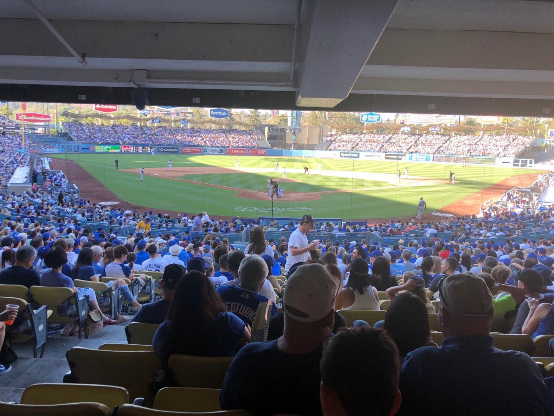 Dodger Stadium Secção 2DL Fila DR Lugar 1