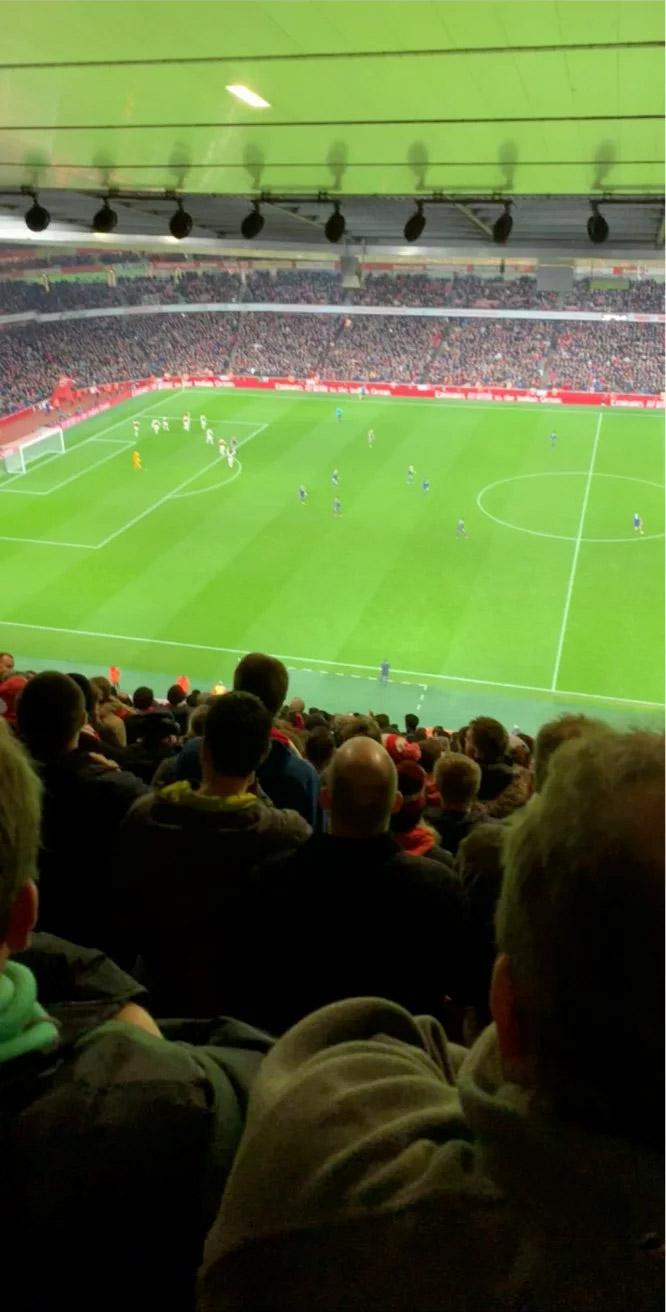 Emirates Stadium Secção 134 Fila 25 Lugar 1208