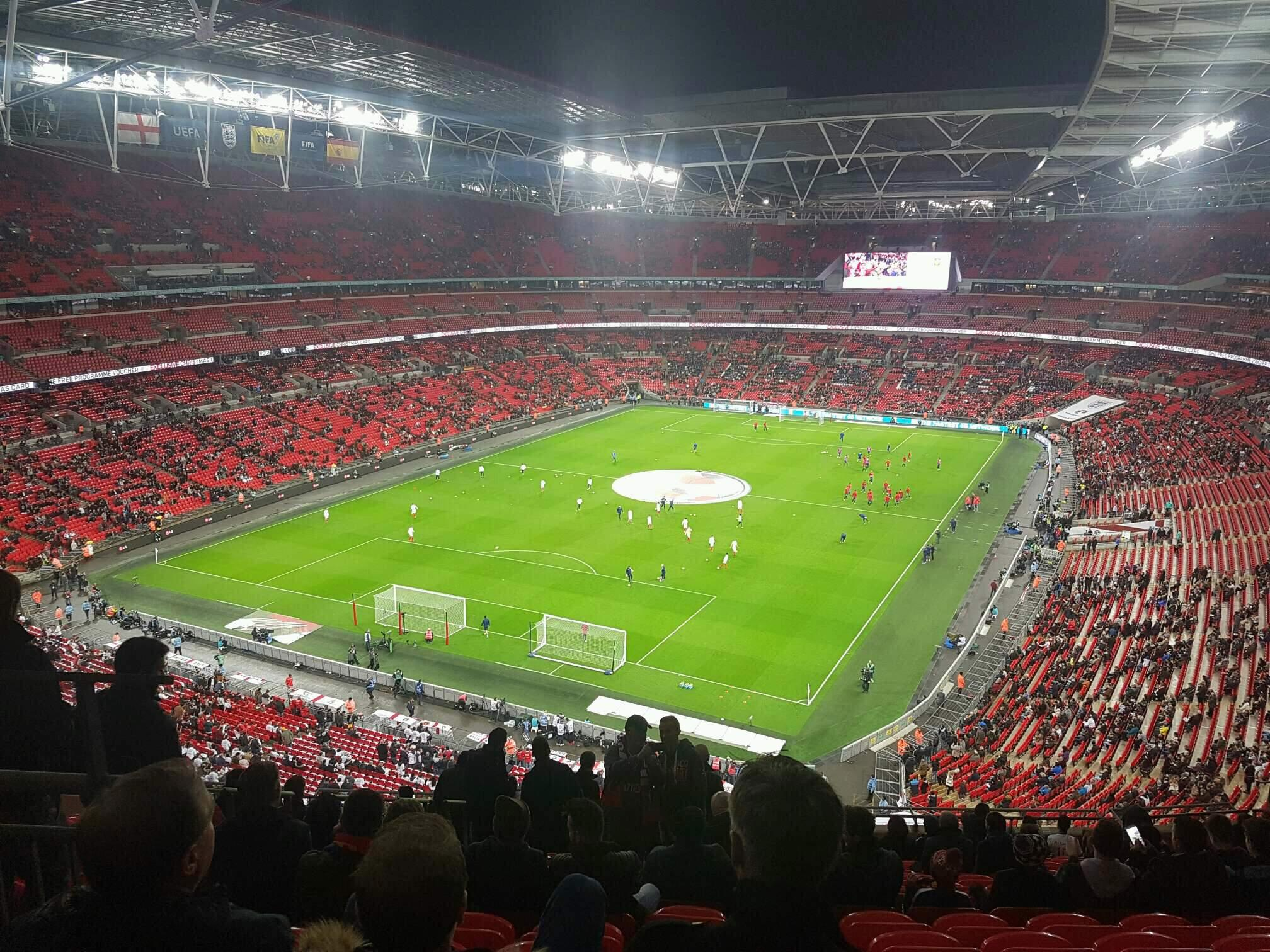 Wembley Stadium Secção 510 Fila 17 Lugar 283