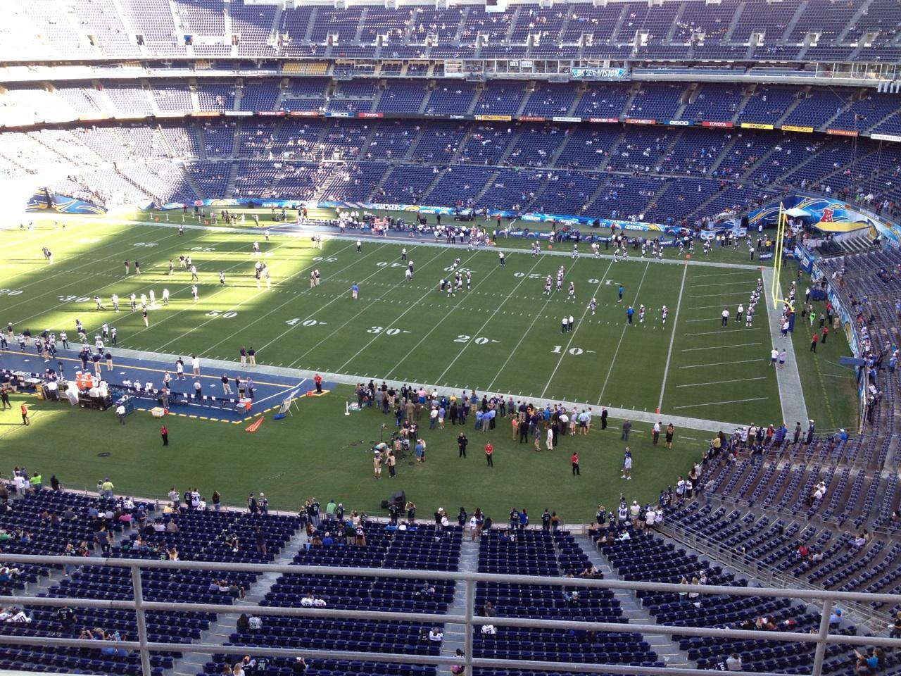 San Diego Stadium Secção V10 Fila 5a Lugar 1
