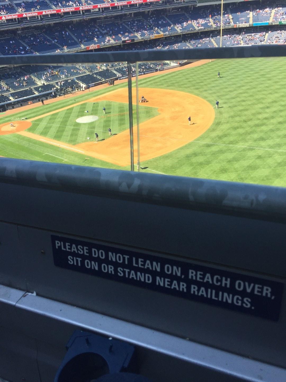 Yankee Stadium Secção 311 Fila 1 Lugar 21