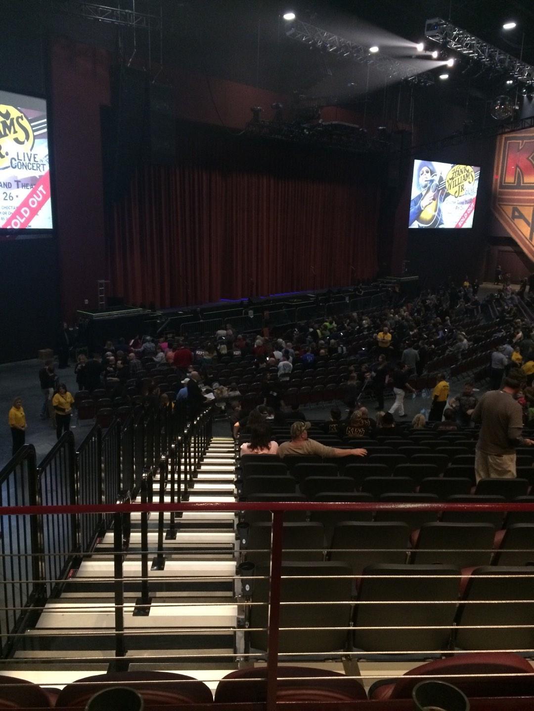 Choctaw Grand Theater Secção 309 Fila T Lugar 4