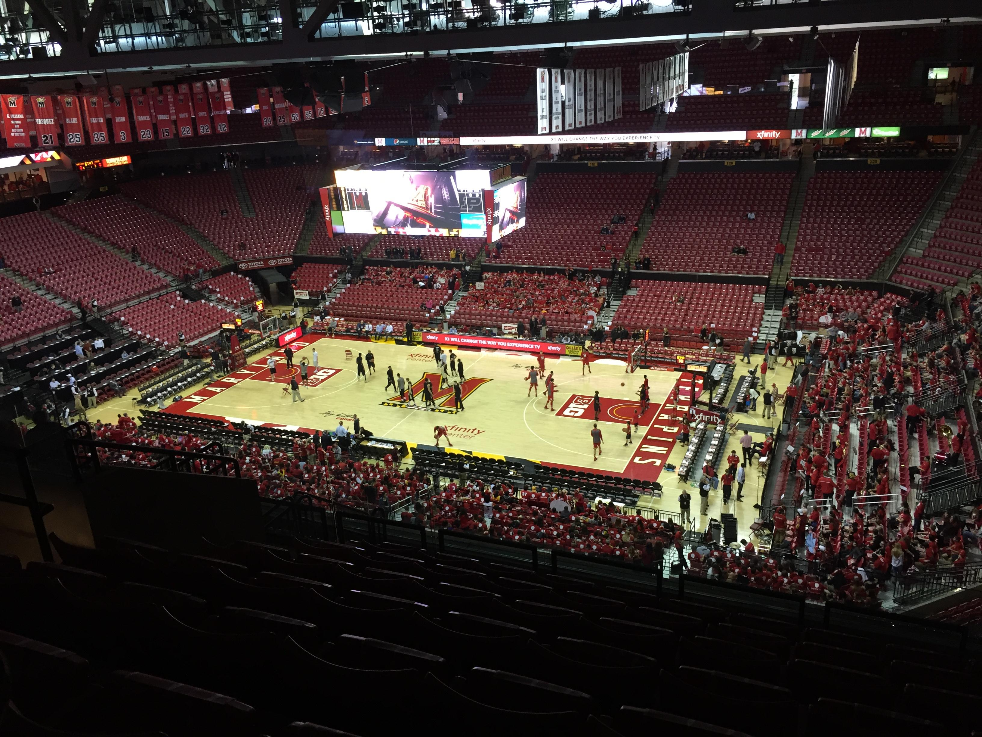 Xfinity Center (Maryland) Secção 216 Fila 13 Lugar 10