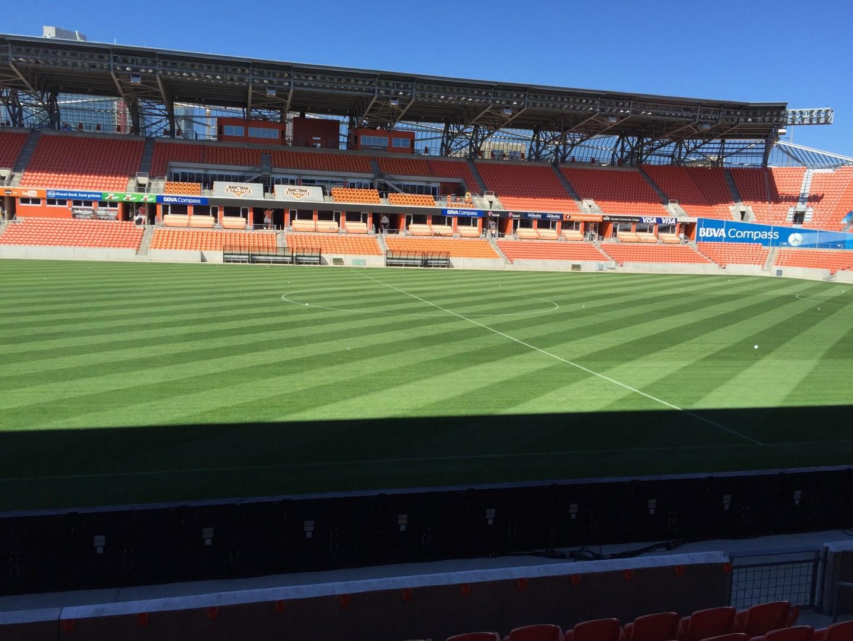 BBVA Stadium Secção 127 Fila F Lugar 15