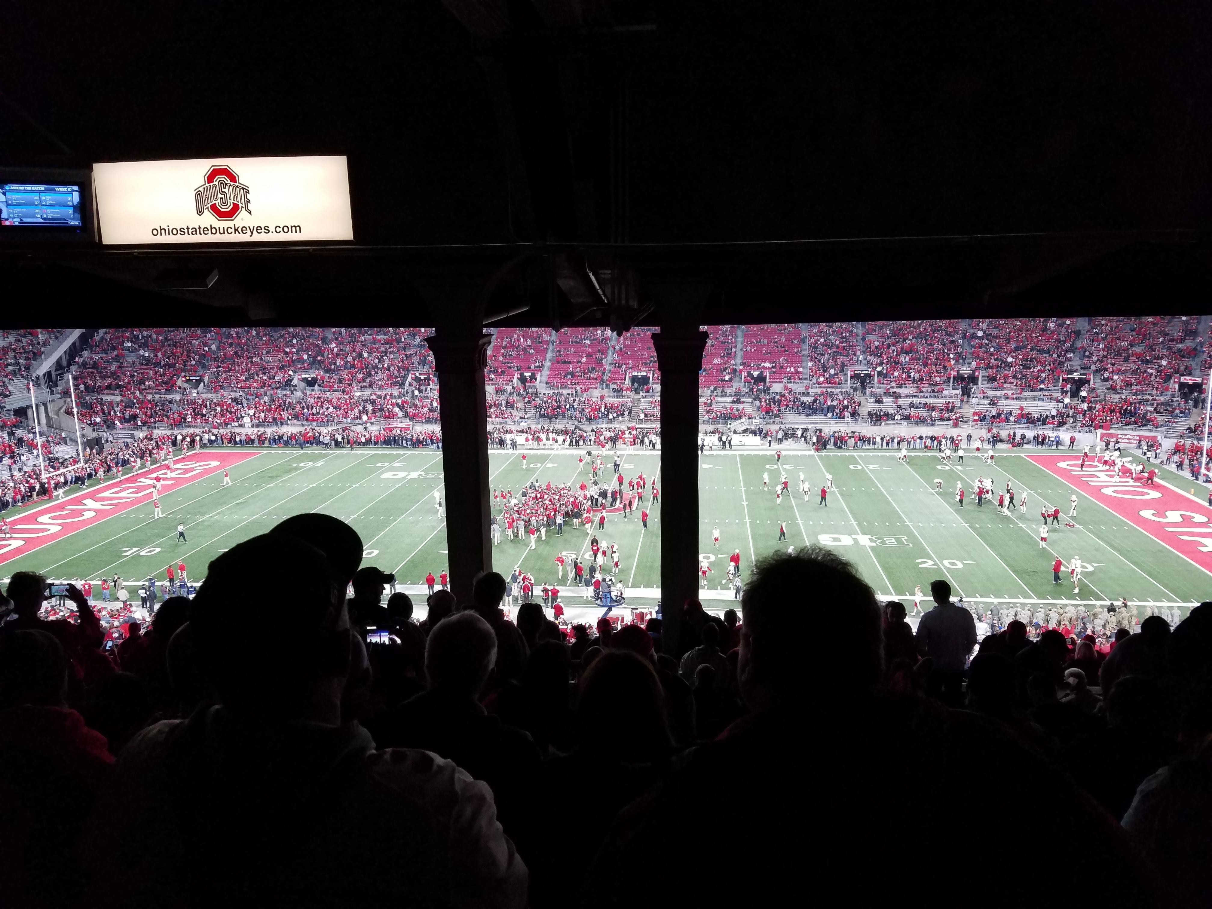 Ohio Stadium Secção 18B Fila 14 Lugar 25