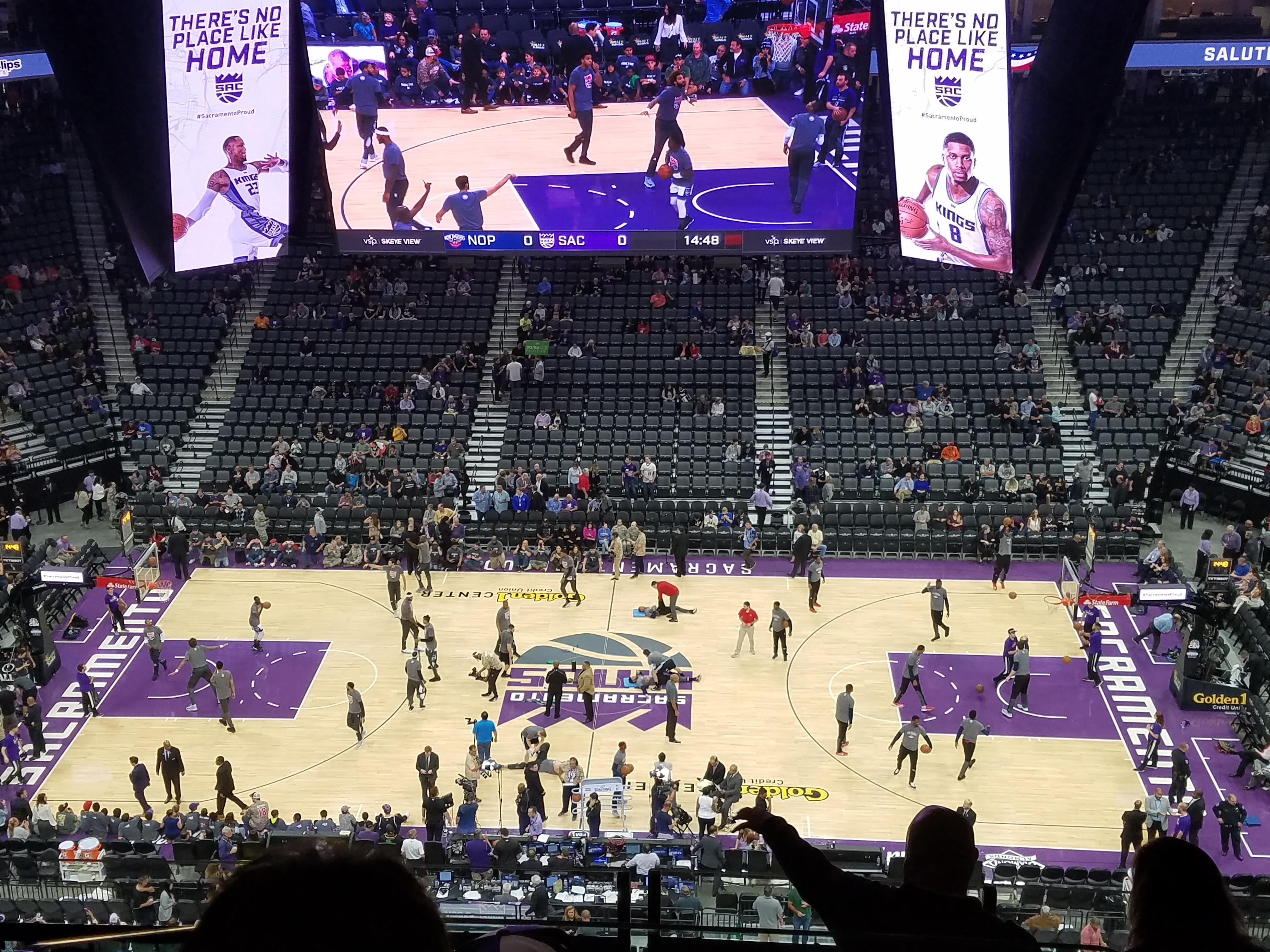 Golden 1 Center Secção 205 Fila G Lugar 4