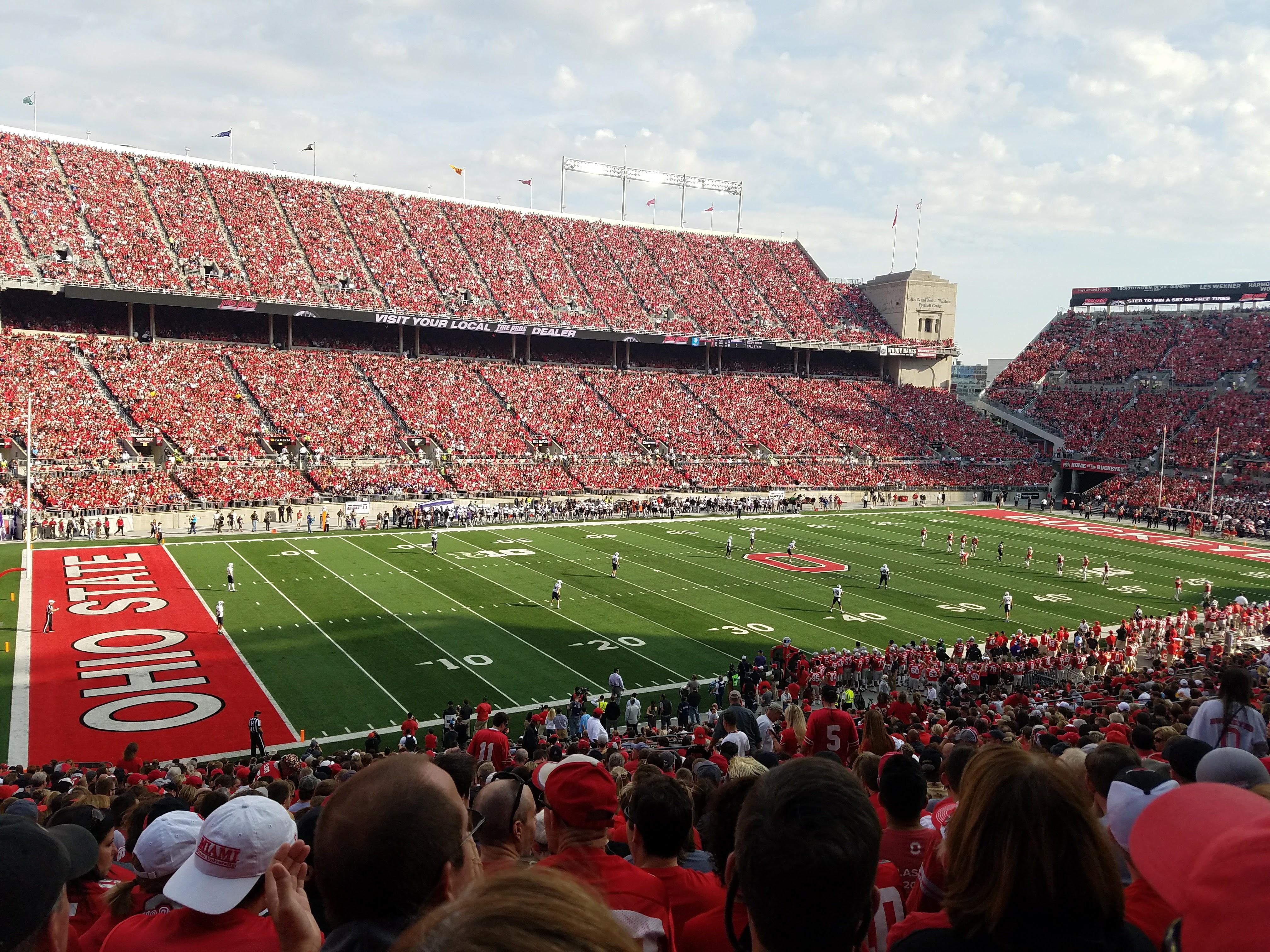 Ohio Stadium Secção 13A Fila 29 Lugar 21