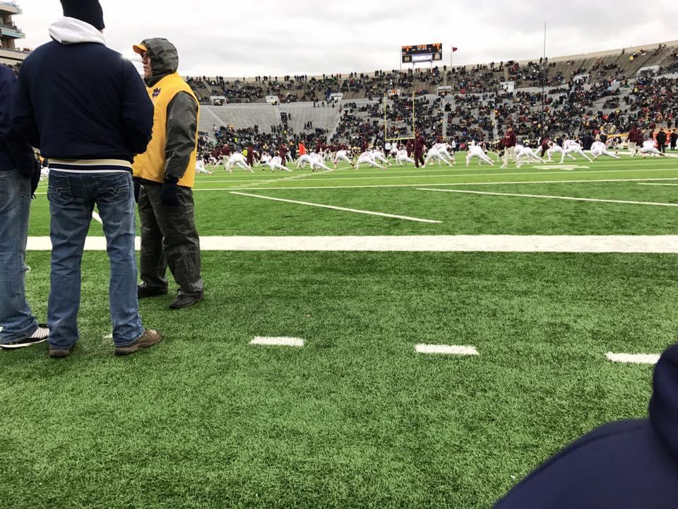 Notre Dame Stadium Secção 17 Fila B Lugar 2