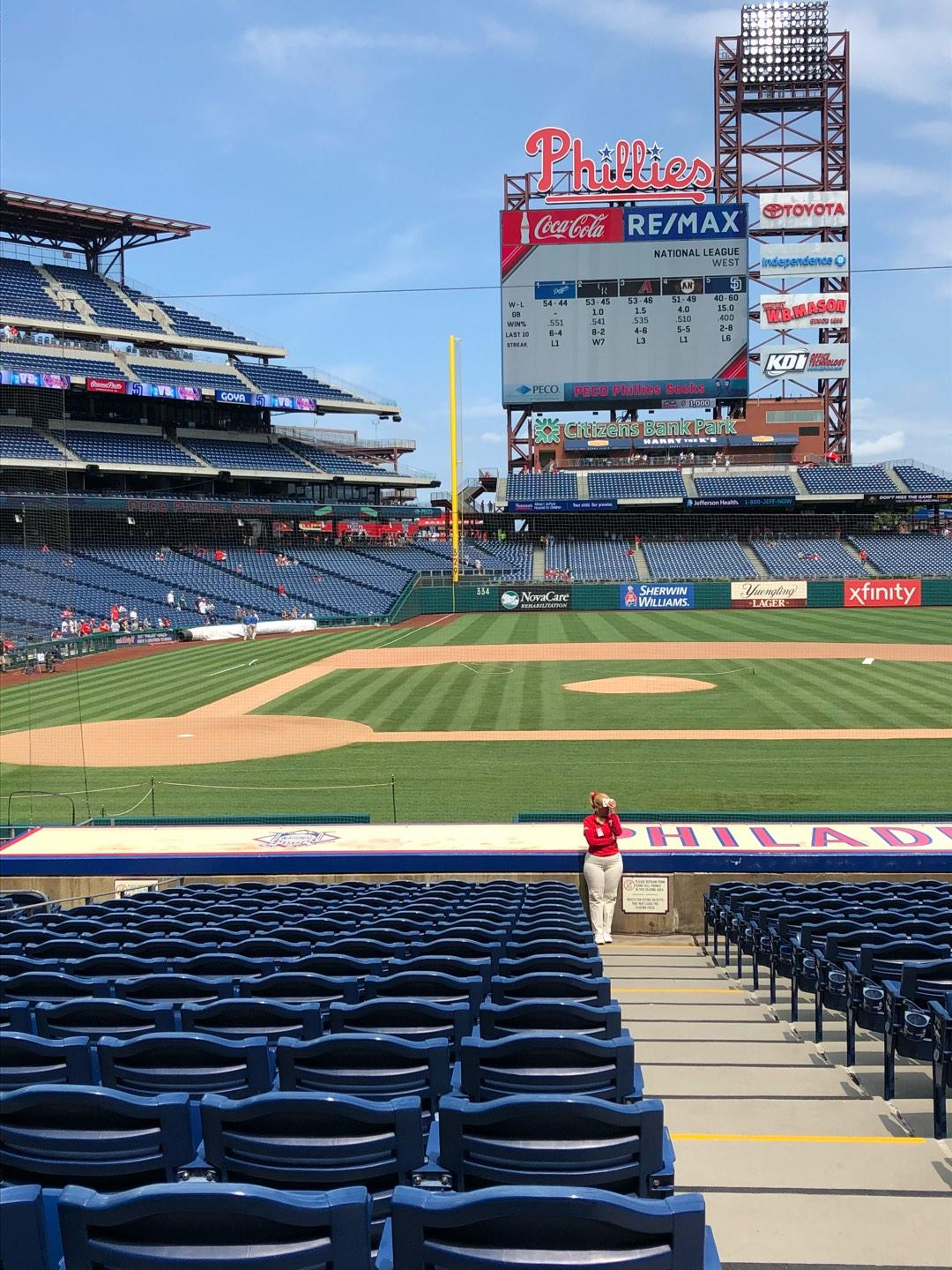Citizens Bank Park Secção 118 Fila 18 Lugar 1