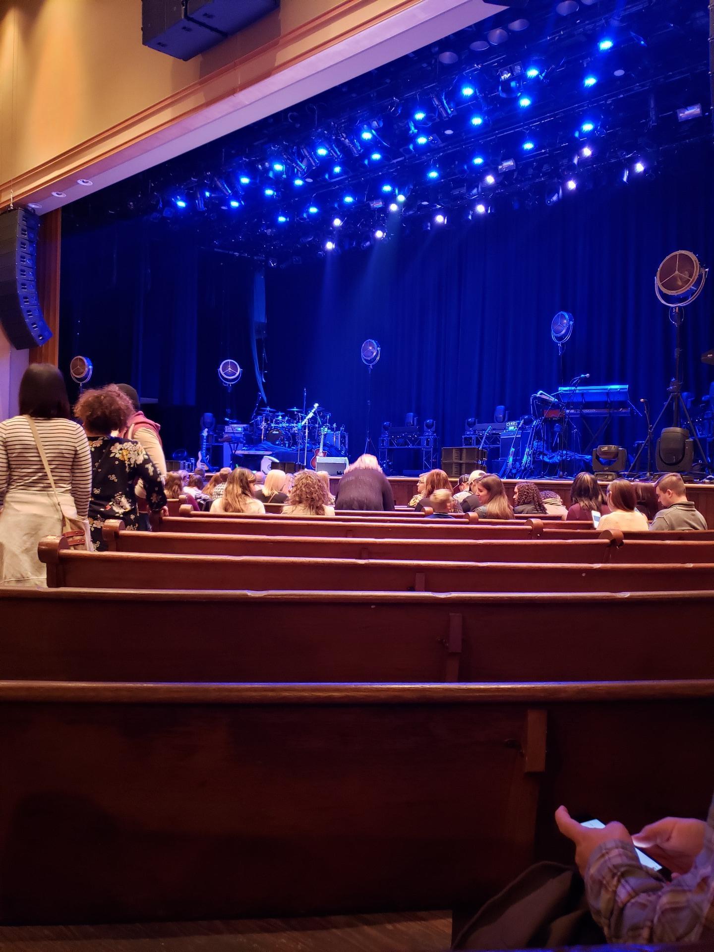 Ryman Auditorium Secção MF-2 Fila N Lugar 6