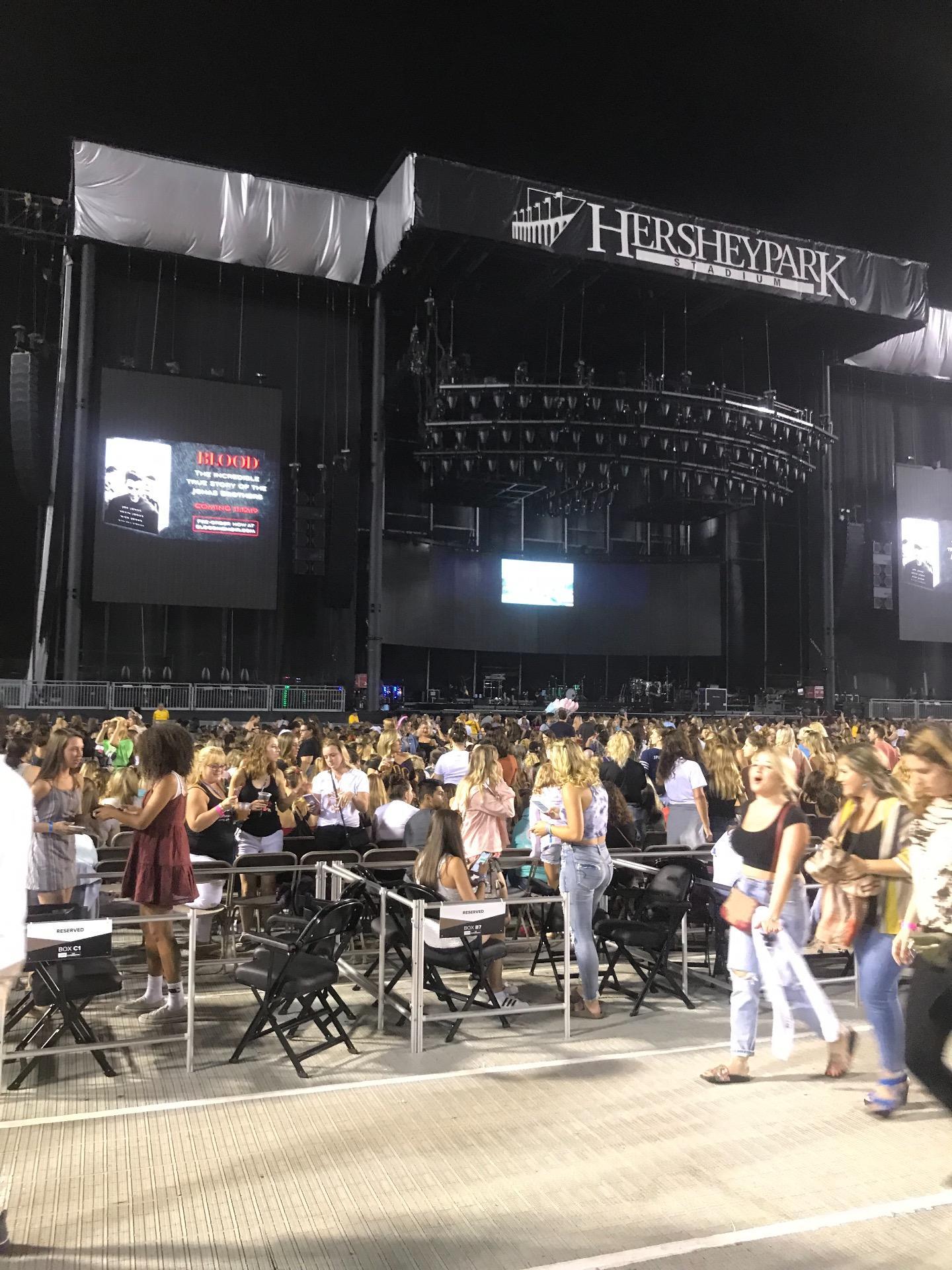 Hershey Park Stadium Secção E Fila 1 Lugar 30