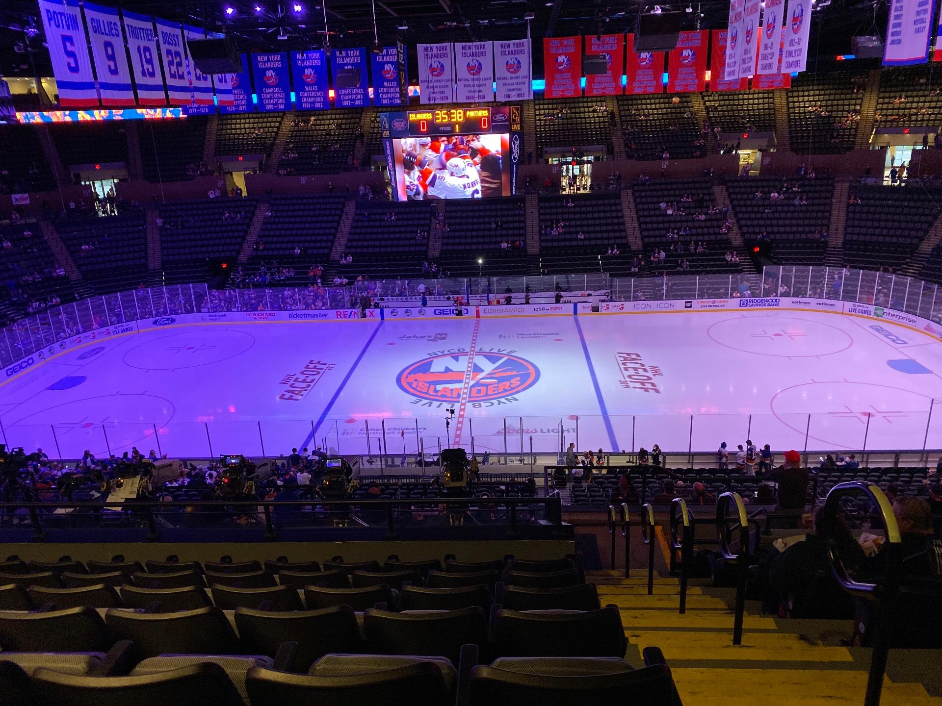 Nassau Veterans Memorial Coliseum Secção 203 Fila 11 Lugar 1