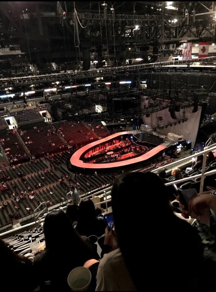Staples Center Secção 303 Fila 13 Lugar 5,6
