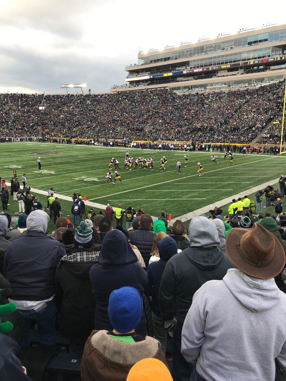 Notre Dame Stadium Secção 5 Fila 23 Lugar 2