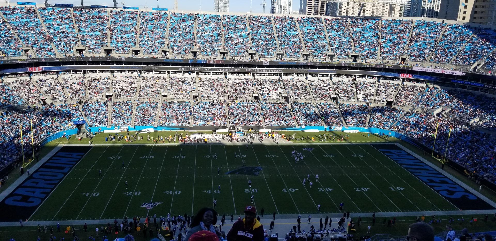 Bank of America Stadium Secção 543 Fila 22 Lugar 1