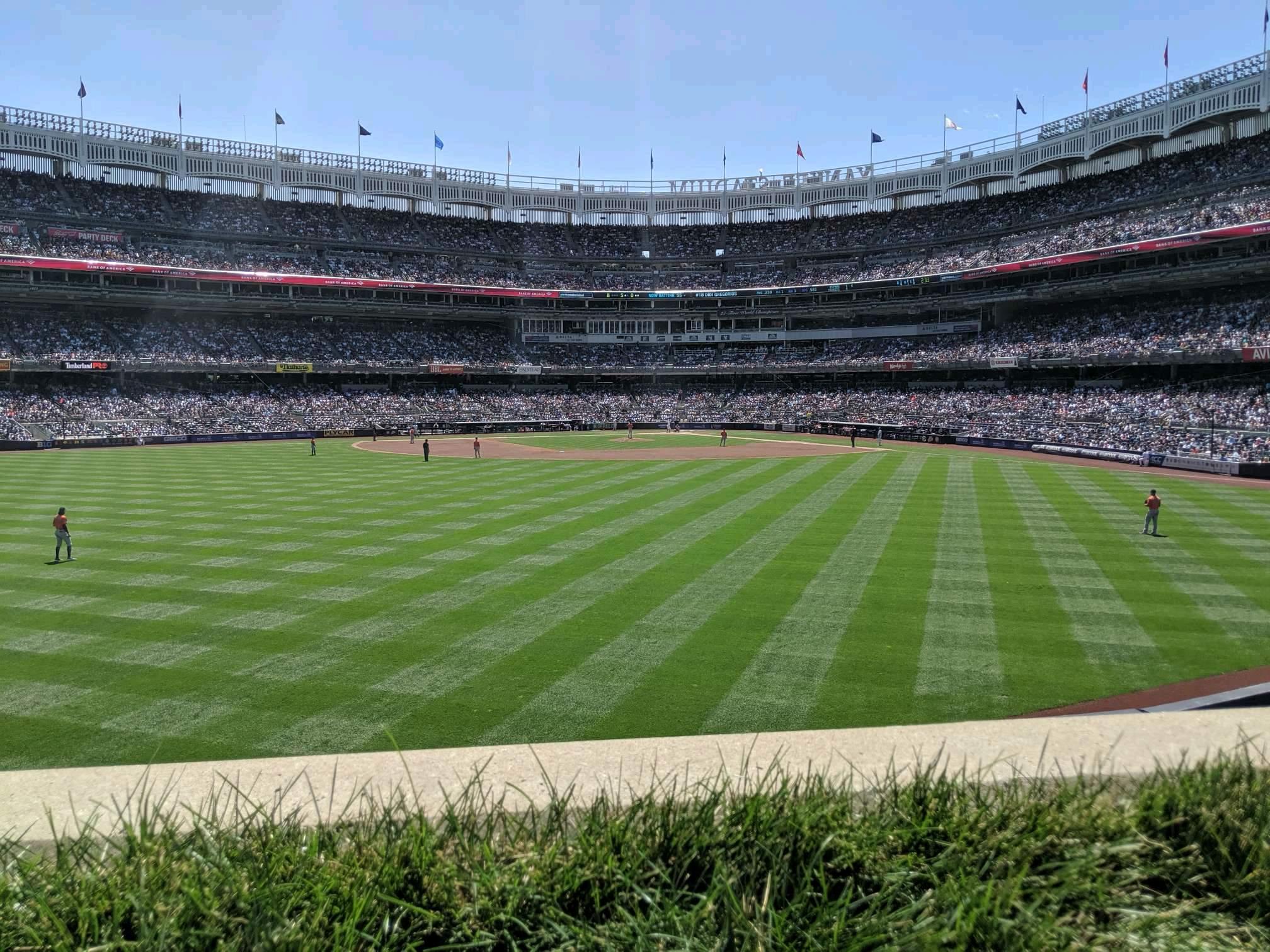 Yankee Stadium Secção 238 Fila 1 Lugar 4