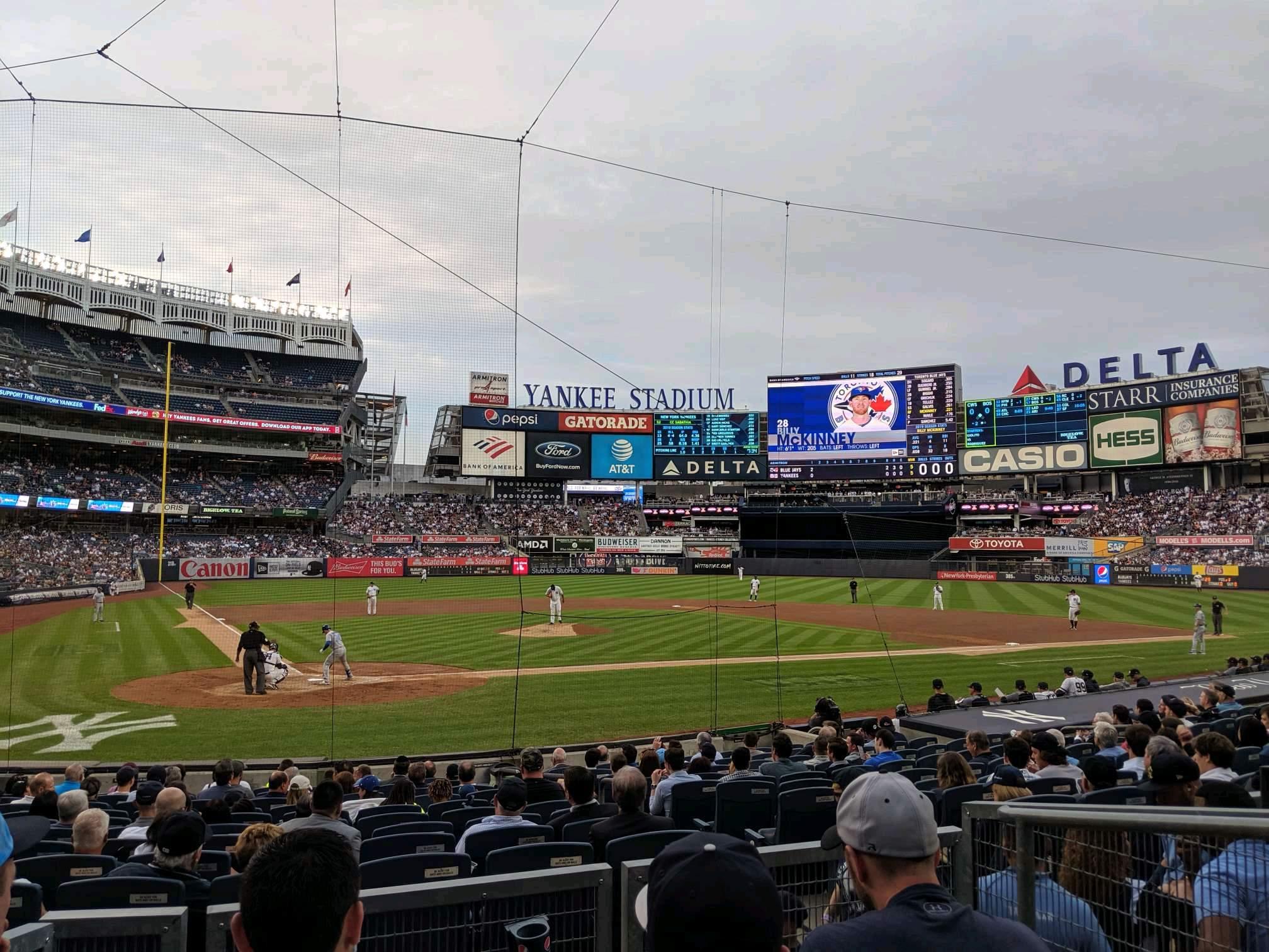 Yankee Stadium Secção 118 Fila 4 Lugar 3