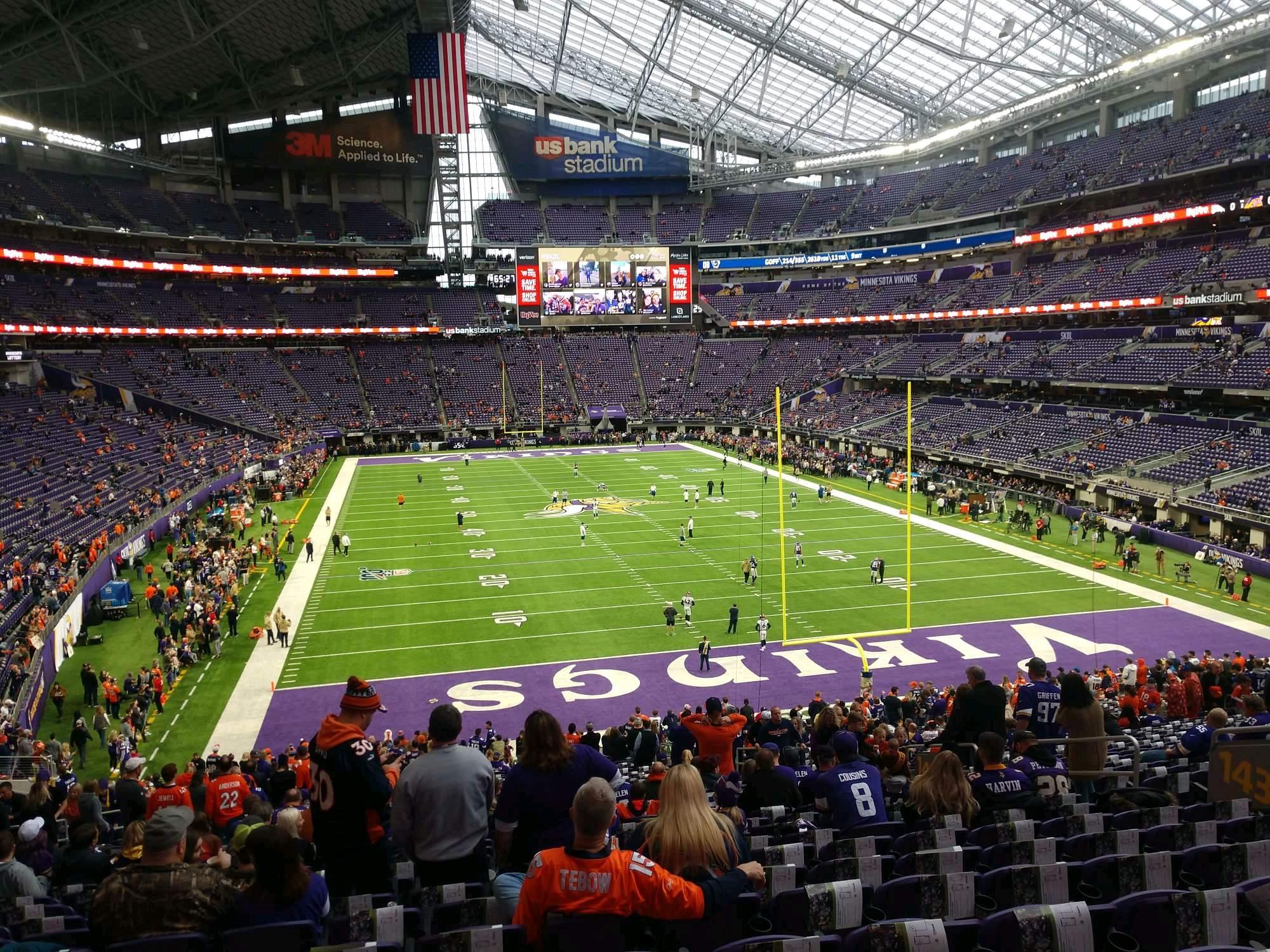 U.S. Bank Stadium Secção 143 Fila 36 Lugar 11