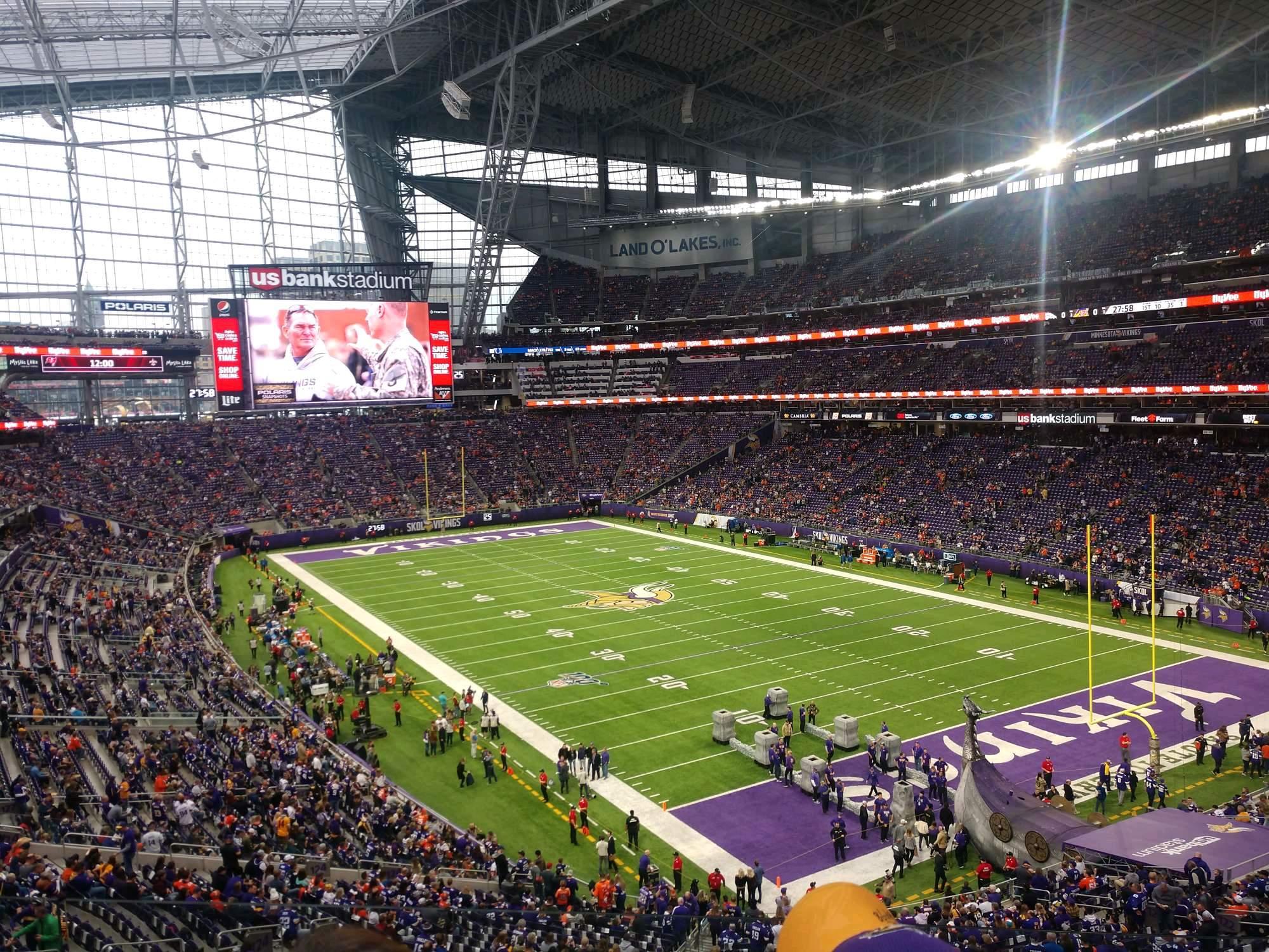 U.S. Bank Stadium Secção 226 Fila 3 Lugar 1