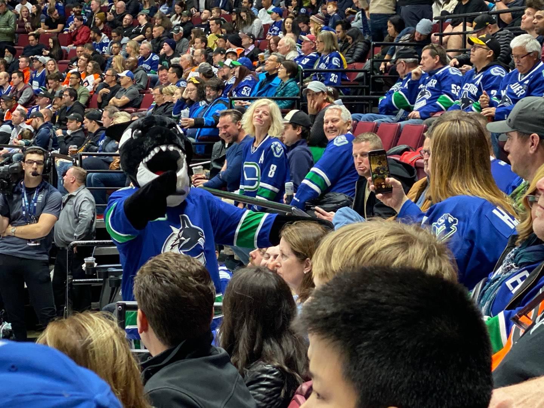 Rogers Arena Secção 103 Fila 5 Lugar 5