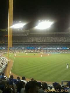 Dodger Stadium Secção 52RS Fila E Lugar 6