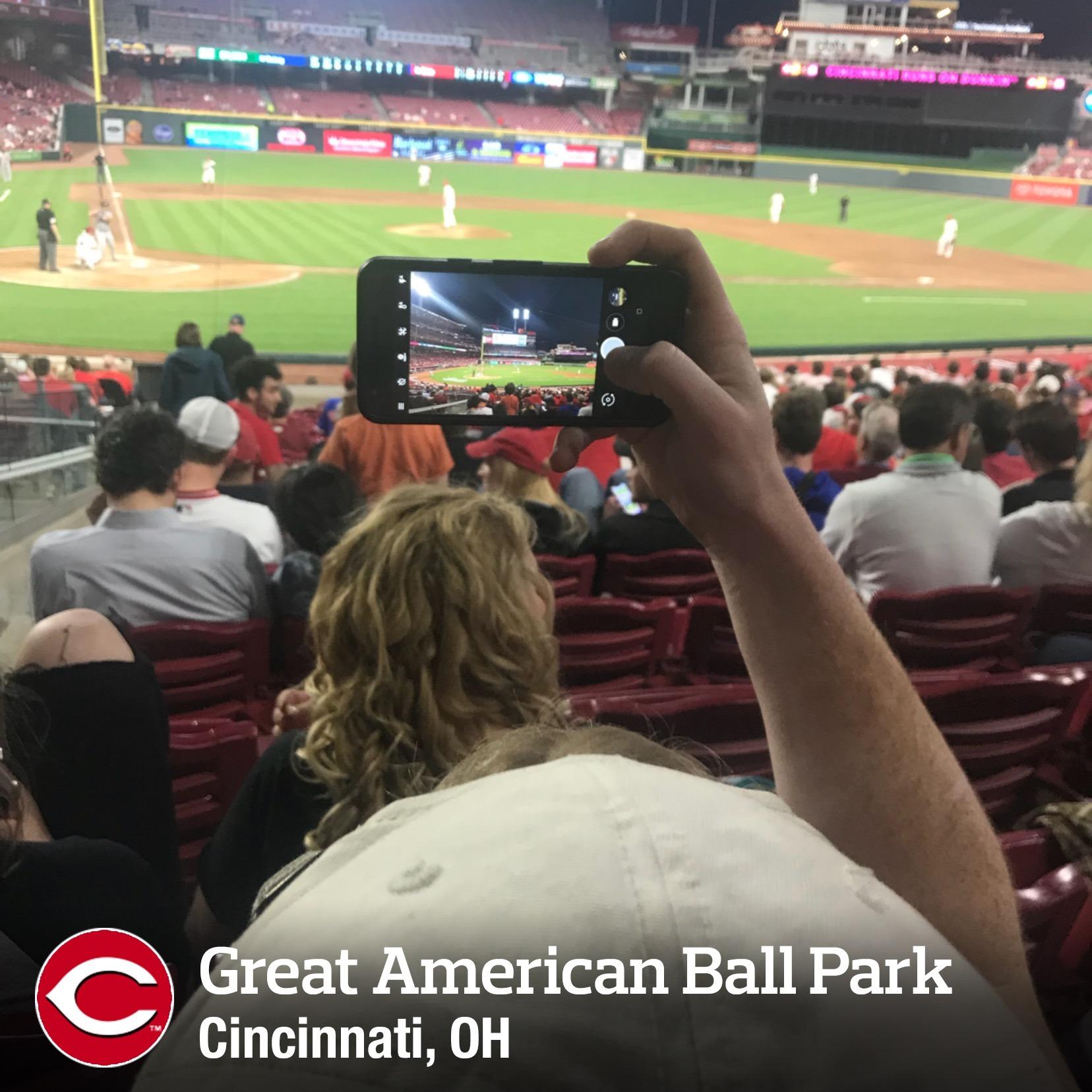 Great American Ball Park Secção 127 Fila W Lugar 14