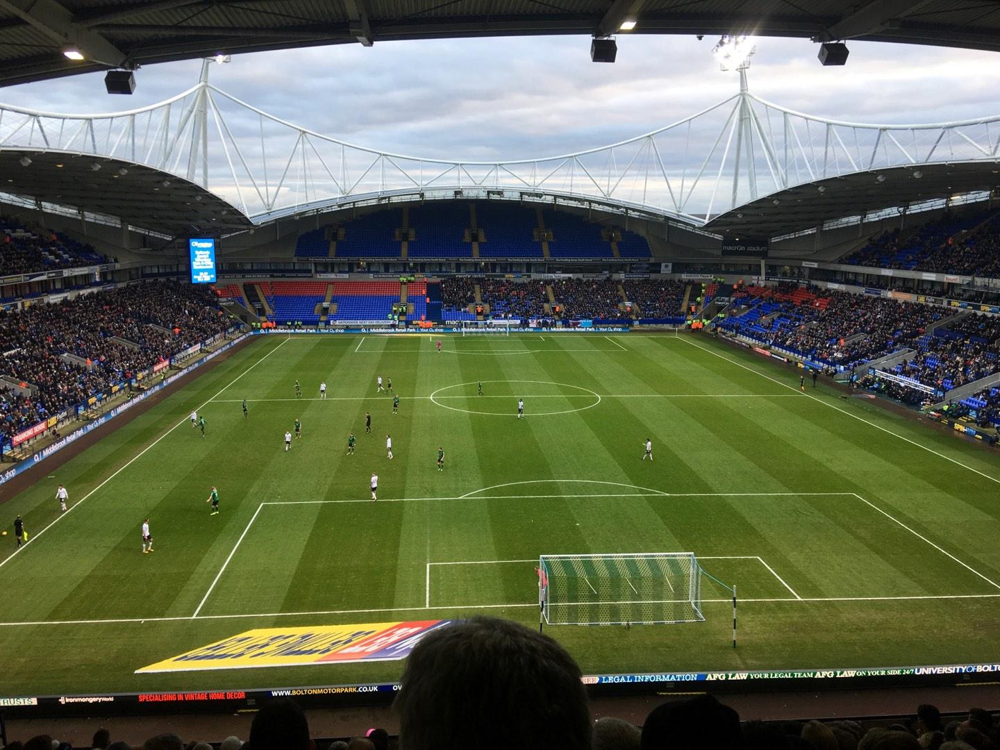 University of Bolton Stadium Secção N Fila LL Lugar 59