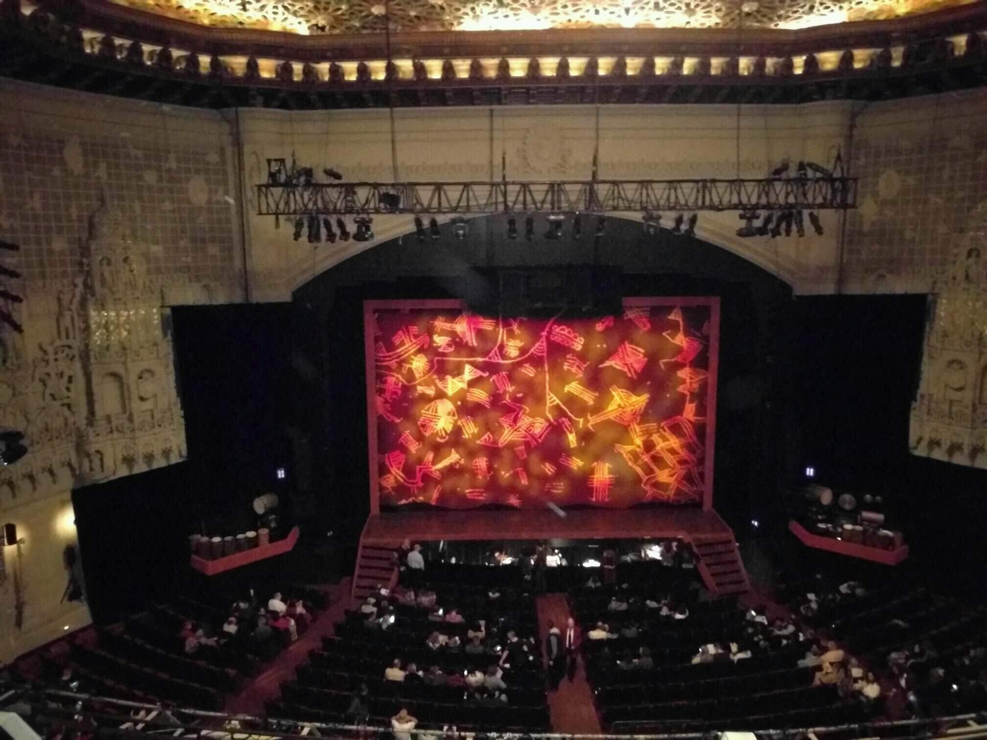 Orpheum Theatre (San Francisco) Secção Balcony C Fila b Lugar 203